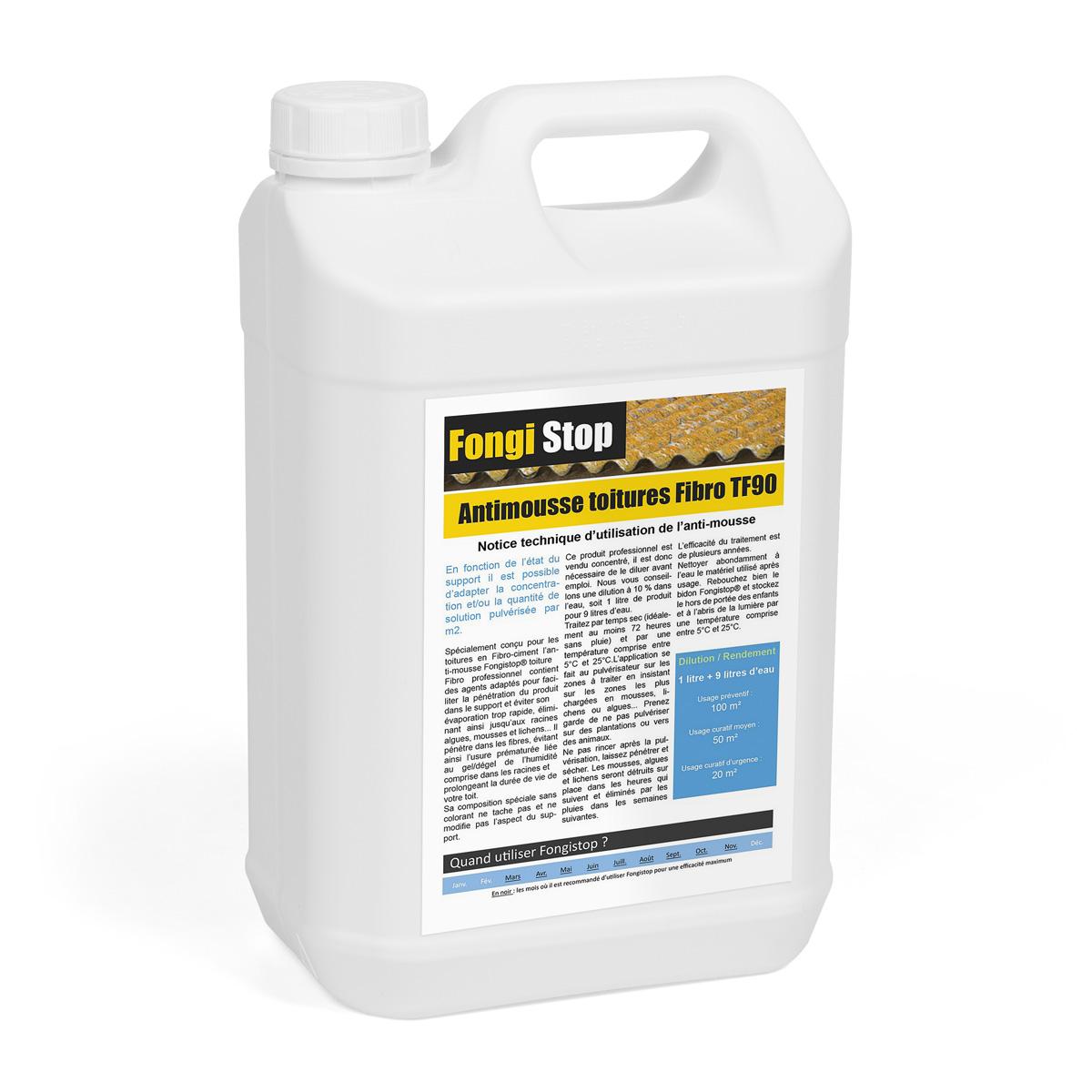 Anti mousse professionnel pour toit fibrociment for Anti mousse naturel toiture