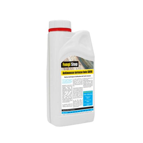 Anti-mousse terrasse en Bois, ultra concentré SB90 - 1 litre