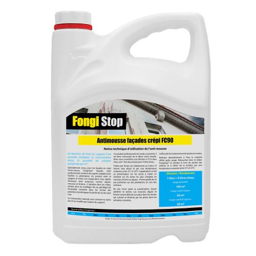 Anti-mousse mur crépi, ultra concentré FC90 - 5 litres